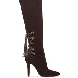 BCBGeneration Brown Eva Over the Knee Boots